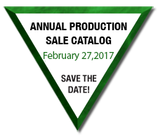 Annual Production Sale March 2nd, 2015